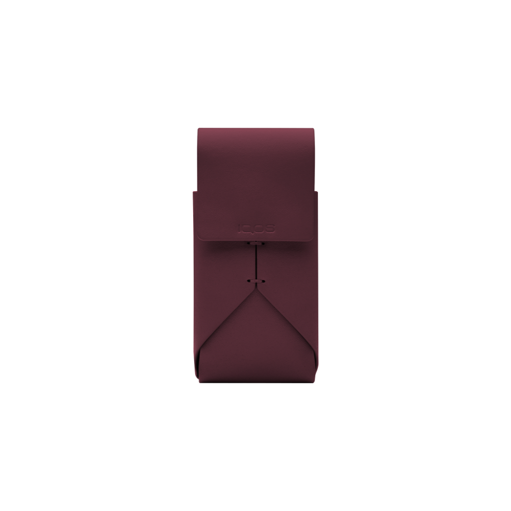 Leather Pouch for IQOS 2.4 PLUS : Burgundy (BURGUNDY)